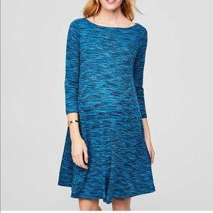 259b2d33f17 LOFT Maternity Space-dye Swing Dress XXLM